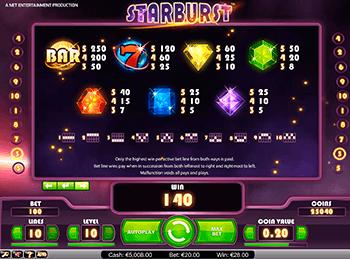 Игровой автомат Starburst - фото № 2