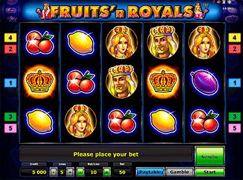 Игровой автомат Fruits and Royals - фото № 1