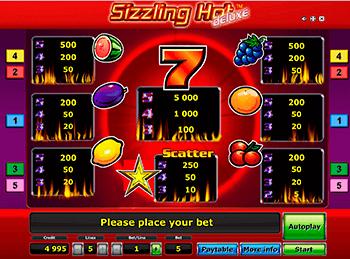 Игровой автомат Sizzling Hot Deluxe - фото № 4