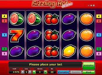 Игровой автомат Sizzling Hot Deluxe - фото № 3
